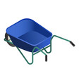 blue wheelbarrow icon isometric style vector image vector image