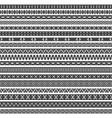 border decoration elements patterns in black vector image
