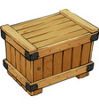 closed wooden box vector image vector image