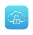 Cloud computing security line icon vector image vector image
