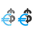 currency composition of dollars vector image vector image