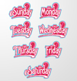 Decorative Text Days vector image vector image