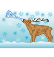 Deer with Christmas wishes vector image vector image