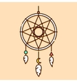Dream catcher in graphic vector image