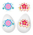 easter eggs decoration stickers realistic eggs vector image vector image