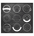 Editable Vintage Badges and Labels on Chalkboard vector image