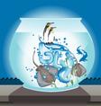 fishbowl vector image vector image