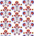 floral folk background vector image vector image