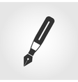 Fountain pen icon flat design vector image vector image