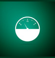 fuel gauge icon isolated on green background vector image vector image