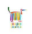 funny dog colorful logo for your design vector image vector image