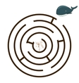 Game labyrinth find a way whale vector image vector image