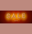 glowing letters sale and button shop now vintage vector image vector image