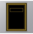 golden border on black page template vector image vector image