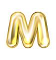 golden foil balloon inflated alphabet symbol m
