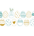 happy easter greeting card with chicken eggs vector image vector image
