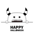 happy halloween monster scary face head icon vector image vector image