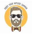 Hipster Summer Emblem vector image vector image