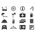 Hotel room icons set vector image