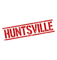 Huntsville red square stamp vector image vector image