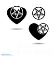 icon black heart a symbol love valentine s day vector image