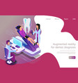 isometric augmented reality for dental diagnosis vector image