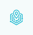 linear place mark icon flat style logo vector image