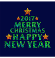 Merry Christmas 2017 Happy new year text design vector image vector image