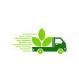 nature delivery logo icon design vector image