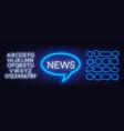 News neon sign on a dark background