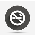 No Smoking sign icon Cigarette symbol vector image vector image