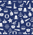 ocean or sea seamless pattern with anchor boat vector image vector image