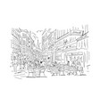 old european street sketch for your design vector image vector image