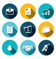 Petroleum industry flat icon collection vector image vector image