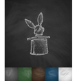 rabbit in the hat icon Hand drawn vector image vector image