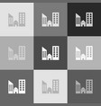real estate sign grayscale version of vector image vector image
