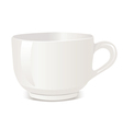 Realistic cup over white backgro vector image