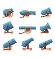 retro cannon vintage military old iron weapons vector image