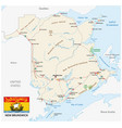 road map with flag of the canada atlantic vector image vector image