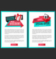 save half price sale certificates gift presents vector image vector image