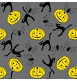 Seamless pattern with pumpkins bets cats vector image vector image