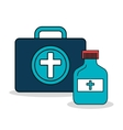 set first aid kit services medical isolated vector image vector image