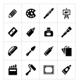 Set icons of art vector image vector image