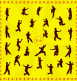 Set of images of people of engaged Kung fu vector image vector image