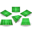 Set of Soccer Fields in Six Positions vector image