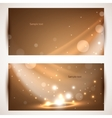 Shiny banners Use for presentation vector image