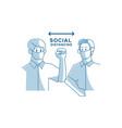 social distancing concept elbow bump avoid vector image vector image