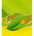 splashes of juice over color background vector image vector image