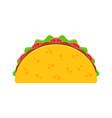taco mexican food vector image vector image
