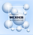 trendy 3d balls background design element with vector image vector image